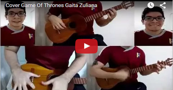 "Joven músico versiona canción de ""Game of Thrones"" en gaita (+video)"