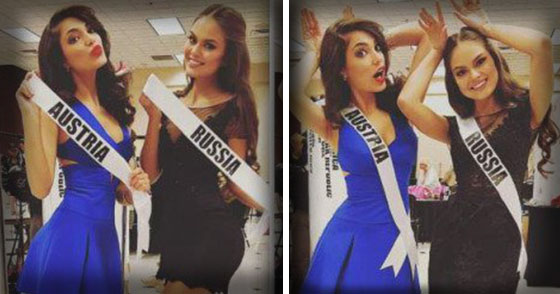 Controversial beso entre candidatas a Miss Universo (+Fotos hot)
